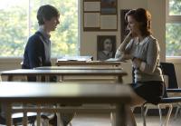 Norman's teacher, Miss Watson, stops him