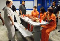 Teens cringe at jail food