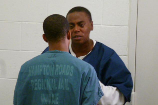 Inmate Karen connects with Jeffery