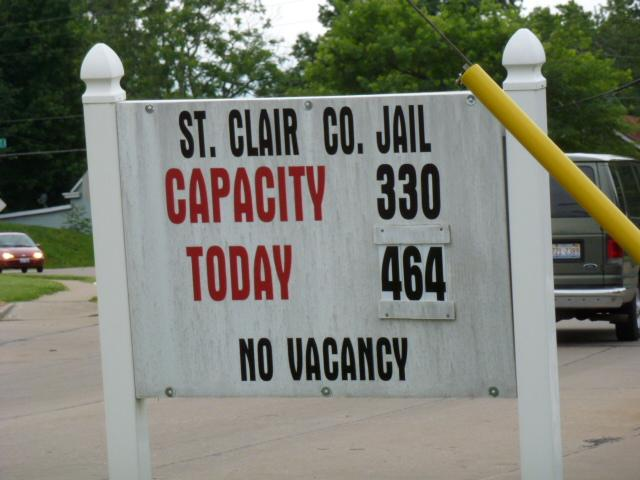 Approaching St. Clair County Jail