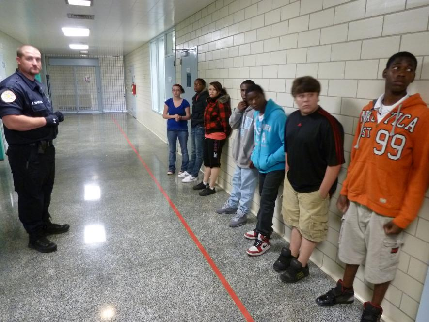 Teens learn not to cross red line