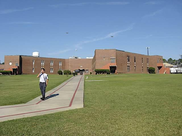 Officer walks grounds at Lieber Correctional