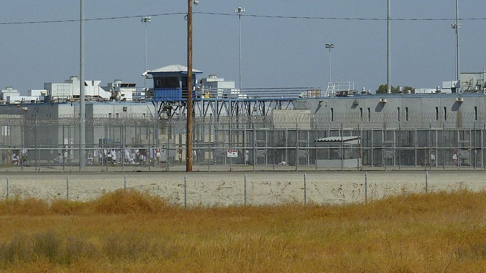 Prison exterior in Corcoran, California
