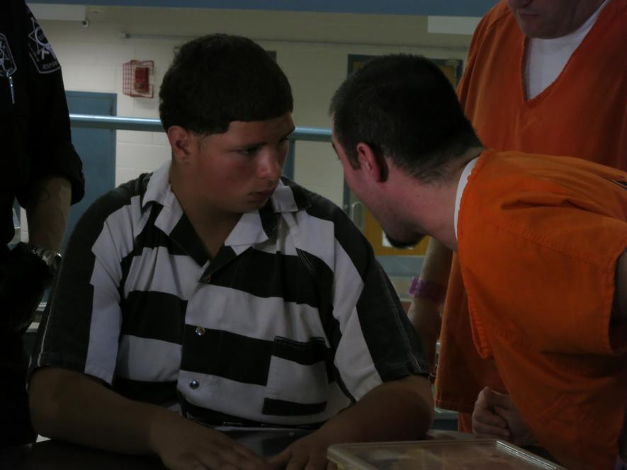 Inmate Dennis hounds David
