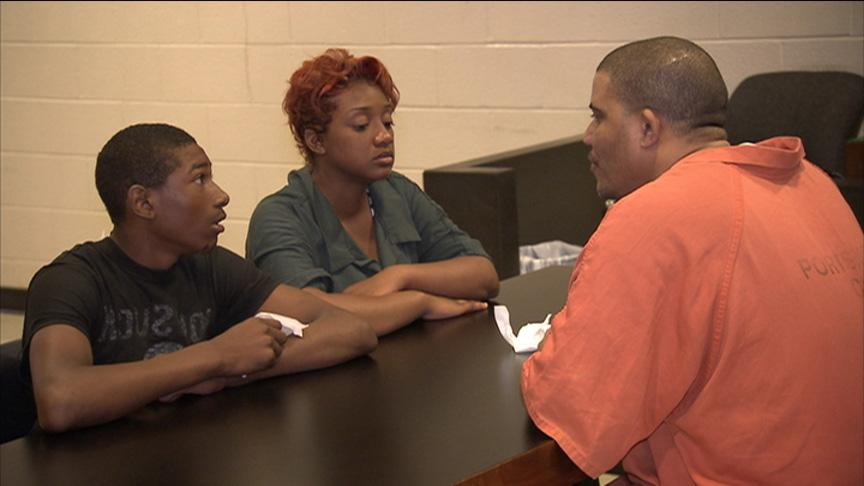 Inmate confronts siblings Jamel and Jamehia