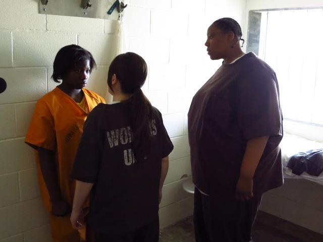 Azaireyah cornered by inmates