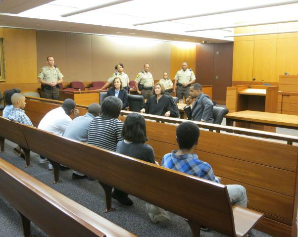 Judge LaGrua talks to teens