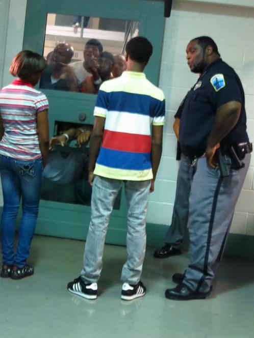 Inmates threaten the teens