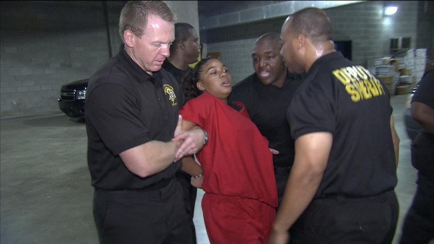 Breanna fights deputies