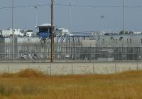 Prison exterior in Corcoran, California