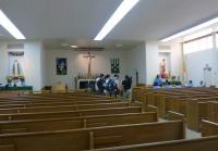 Crew films in San Quentin prison chapel