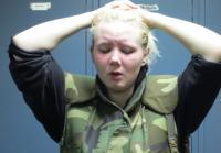 Drug user Tori prays