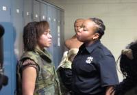 Raven near tears at Oklahoma County Jail