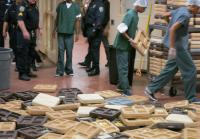 Angry inmates dump food trays