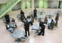 Teens sit with Oklahoma County officers