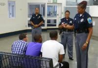 Master Jail Officer Williams shows  jail underwear