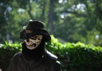 Billy wears skull mask