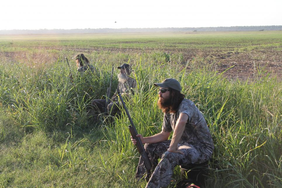 Guys dove hunt with Si's new poodle