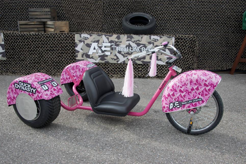 Korie 's pink trike at Duck Dynasty 500