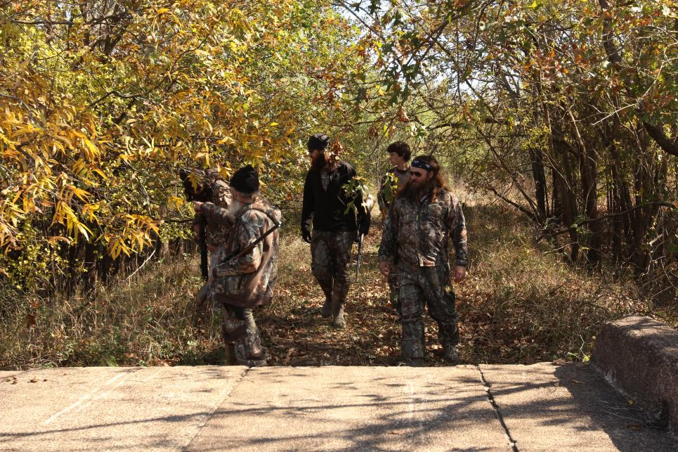 Robertsons hunt with John Luke