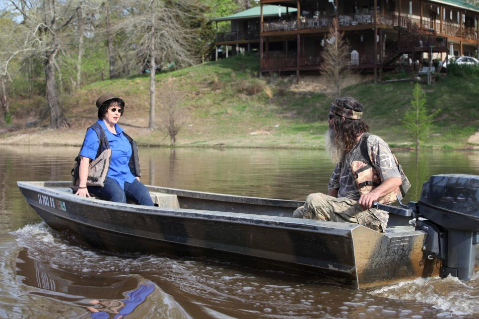 Kay and Phil take boat ride