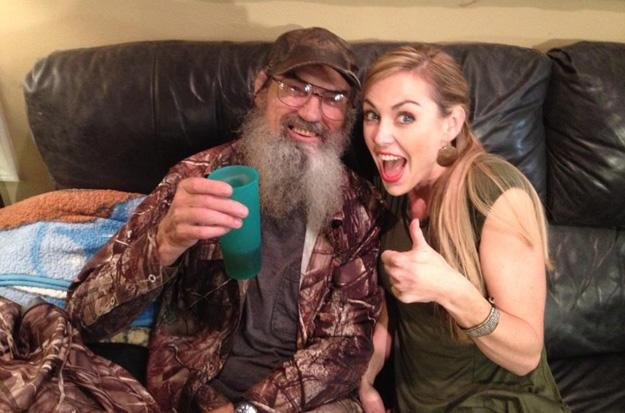 Jessica and Uncle Si hang out