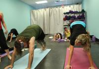 Willie attends Korie's yoga class