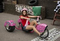 Fan prepares to race Korie's trike