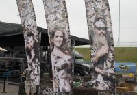 Sign-up booth for Duck Dynasty 500