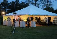 Tent is set up for Duck Commander party