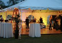 Party planners set up for celebration