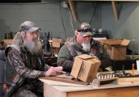 Si and Godwin build duck calls