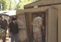 Phil and Kay look for duck call blueprints