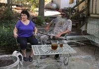 Phil and Kay Robertson sit outside