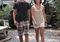 John Luke and girlfriend Emily arrive to fish