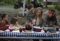 Jessica and Jep enjoy BBQ with kids