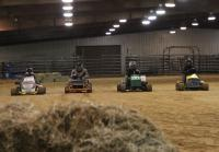 Lawn mower race begins