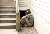 Phil watches Sadie enter crawlspace
