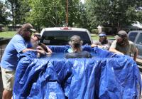 Si creates pool in back of pickup