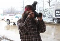 Jep photographs crew for Bass Pro Shops display