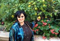 Ms. Kay poses with lemons