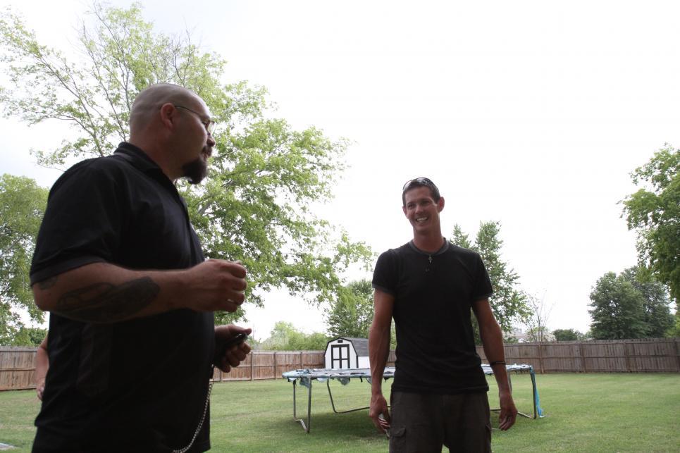 Jarrett with half-pipe buyer
