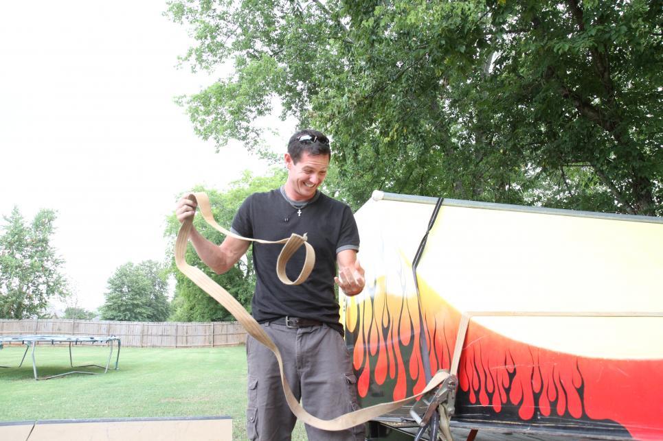 Jarrett unloads half-pipe