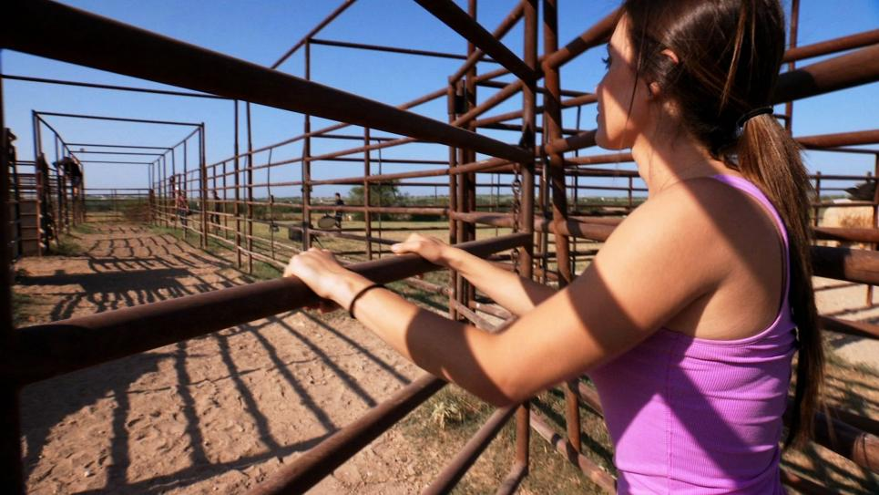 Jennifer preps to corral bulls