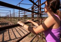 Jennifer preps to corral bulls