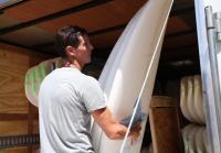 Jarrett Joyce unloads surfboards