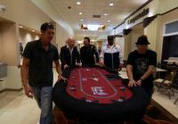 Jarrett delivers Gene Simmons' poker table to Aces & Angels
