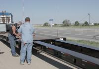 Marc preps to transport Greyhound Scenic Trailer