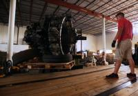 Chris preps to load DC-7 turbines