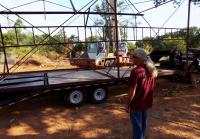 Roy will ship object twice the length of trailer